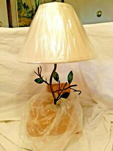CARDINALS Table Lamp METAL Tree Branch NATIONAL WILDLIFE FEDERATION A9841 NEW