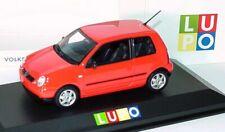 RARE VW LUPO 1.0 1.4 1.7 SDI FSI 16V TORNADO RED 1:43 MINICHAMPS (DEALER MODEL)