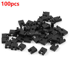 100x Jumpers 2.54mm Hard Drive Computer CD/DVD PCB Panel Test Bread Board Shunt