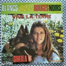 45 tours vinyle Sheila - Blancs jaunes rouges noirs