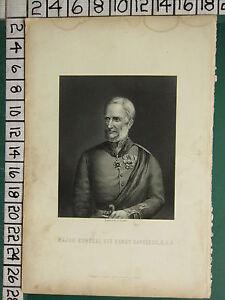 C1830 Antik Aufdruck ~ Große Allgemeine Sir Henry