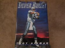 1993 troy aikman- silver bullet poster