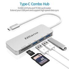 USB C3.0 Combo Hub, Support USB 3.0 and TF SD Card Reader Aluminum Alloy