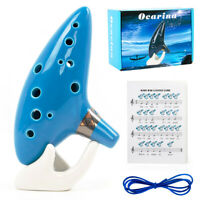 Ocarina 12 Tones Alto C with Song Book Display Stand Neck Cord