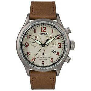 Timex TW2R38300 Waterbury Men's Watch Brown 42mm Stainless Steel