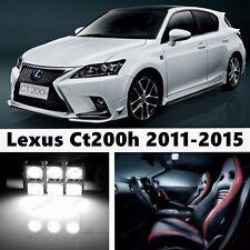 10pcs LED Xenon White Light Interior Package Kit for Lexus Ct200h 2011-2015