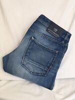 SCOTCH & SODA  Ralston Regular Slim Fit Distressed Denim Jeans Mens 32x32(S1022)