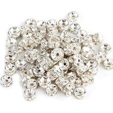 100X Metallperlen Zwischenring Zwischenperlen Perle 6mm TOP GY
