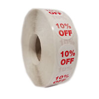 """1000 Self-Adhesive 10% Off Round Retail Labels 3/4"""" Stickers Tags - Dot Stickers"""