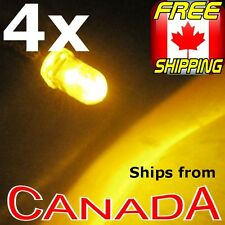4x YELLOW / AMBER 5mm Single LED, pre-wired for 12v, Car/Truck/Bike