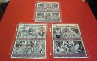 1993 New York Giants McDonalds Game Day Complete 3 Card Set HOF Lawrence Taylor
