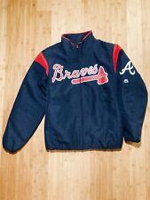 Men's Atlanta Braves Majestic Navy On-Field Therma Base Thermal Full-Zip Jacket