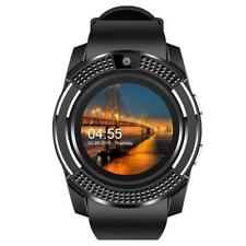 V8 Bluetooth Smart Men Women Sport Watch Mate Round Touch Screen for Android iOS