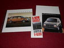 1987 DODGE CARAVAN BROCHURE & PLYMOUTH VOYAGER CATALOG and MORE!, 3 for 1 Deal
