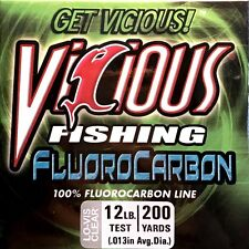 Vicious Clear 12 Lb Test Fluorocarbon Fishing Line