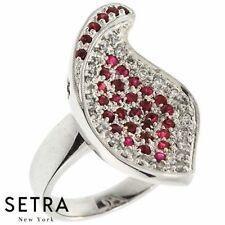 Love Everlasting 14k Fine Gold Genuine Diamond & Ruby Ring
