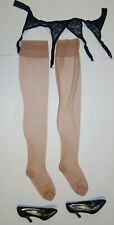 Nylons IVORY WHITE  XL imperfects Eleganti RHT Stockings from NYLONZ