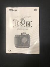 Spanish Manual For Nikon D2h Digital Camera