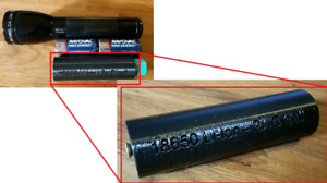 18650 Li-Ion 2C-Cell Maglite Adapter - Flashlight conversion