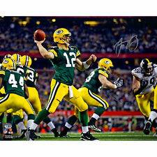 AARON RODGERS SIGNED SB XLV 16X FRAMED FANATICS PACKERS AUTOGRAPH GREEN BAY