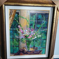 "David LloydGlover ""Gladiola Arangment"" Original oil painting / COA"