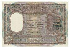 1975 INDIA 1000 Rupees BOMBAY AUNC [P-65b] Sign.#80