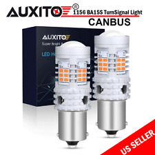 Error-Free LED Turn Signal Blinker Bulbs 1156 BA15S 3020SMD Amber/Yellow 2700LM