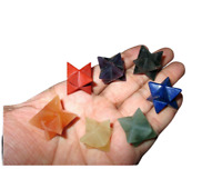 Jet Lot of 7 Chakra Star Merkaba Set Sacred Geometry Platonic Healing Genuine A+