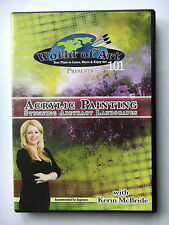 ACRYLIC PAINTING STUNNING ABSTRACT LANDSCAPES - KERIN MCBRIDE - DVD