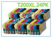 24 pack New T200XL Ink For Epson XP-200 300 310 400 410 WorkForce-2520 2530 2540