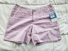 Women's Columbia Solar Fade Shorts 6x6 Outdoors Casual Walking Purple