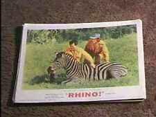 Rhino '64 Lobby Card #3 Zebra Africa