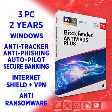 Bitdefender Antivirus Plus 2021 3 PC 2 years FULL EDITION +VPN