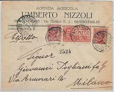 64032  - ITALIA  Regno - STORIA POSTALE:  BUSTA PUBBLICITARIA Reggio Emilia 1925