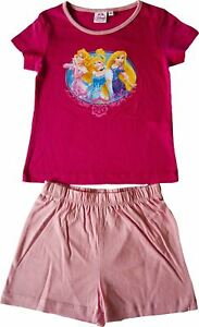 Girls Disney Princess Short Pyjamas Set Pink / 3 Years