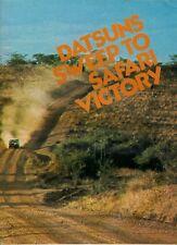 NISSAN Datsun SAFARI RALLY successo 1973 UK Opuscolo Vendite sul mercato 240z Bluebird