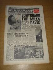 MELODY MAKER 1960 AUGUST 27 MILES DAVIS EARTHA KITT FRANKIE VAUGHAN TOP RANK +