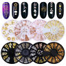 12Patterns/Box Nail Rhinestones Studs Rivets Beads 3D Nail Art Decoration Wheel