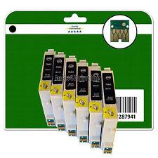 6 Nero CARTUCCE DI INCHIOSTRO PER EPSON R200 R220 R300 R300M R320 R340 NON-OEM e481-6