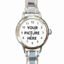 Womens Bracelet Watch Custom Personalized YOUR PICTURE PHOTO LOGO