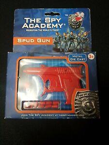 Spy Academy RED DIE CAST METAL POTATO / SPUD GUN TOY  - NEW