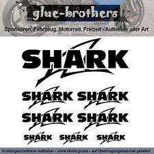 Shark Helmet Aufkleber Sticker Farbauswahl Schriftzug Helm Decal Kleber Logo