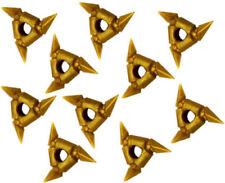 10 NEW LEGO GOLD NINJAGO SHURIKEN NINJA STARS weapons shurikens minifig toys