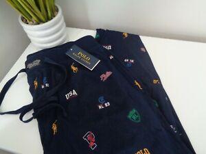 Polo Ralph Lauren Navy Logo Cotton Jersey Pyjama Bottoms / Lounge Pants size S