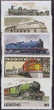 LESOTHO MNH Scott # 453-457 Trains (5 Stamps) (10)