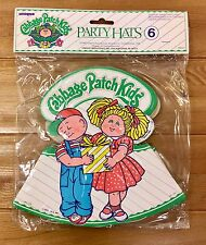 NEW 1983 CABBAGE PATCH KIDS PARTY HATS PACK OF 6 MULTIPLE AVAILABLE!!