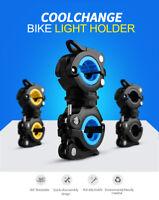 Bike Cycling Flashlight Torch Mount LED Light Holder Clamp Clip 360° Rotation AU