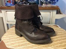 Mobility Colby Brown Leather Lace Up Boots Size 8.5M Made in Spain