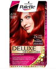 Schwarzkopf Palette Deluxe Color Permanent Creme Hair Dye Oil Care 678 Rudy Red