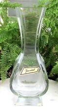 LOVELY VINTAGE BACCARAT CRYSTAL GLASS VASE WITH ORIGINAL LABEL